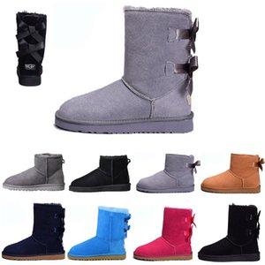 Womens Classic Short Boot FOR HOMBRES Moda de cuero genuino de gamuza Australia Classic Warm WALKING Shoes Mujer hombre al aire libre casual zapato