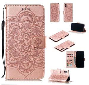 Новый Huawei защитный рукав Mandala тисненая кронштейн карты iphone мобильный кошелек кожаный чехол