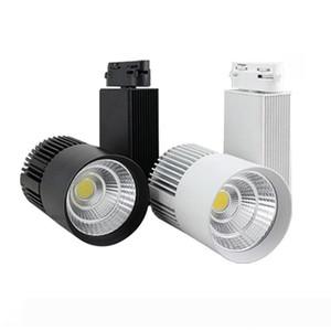 LED COB Track Light 20W Dimmable Rail Lights Spotlight Clothing Shoe Shop Black White Body LED Spotlight 20W COB LED Rail Track Ceiling