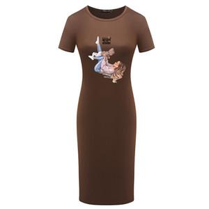 Mummy Dresses Women Summer Designer Dress 2020 Explosion DIY Clothing Womens Casual Short Sleeve Breathable Dress 5 Styles