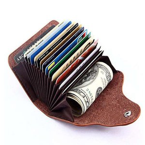 hot fashion women card keeper genuine leather bags ID holders Credit card business ID holder ladies bolasa 13 cards