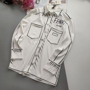 20ss nuevo diseñador de la marca de lujo de la mano FF boceto blusa de las camisetas de manga larga T-transpirable chaleco de la camisa exterior Streetwear camiseta 7,12
