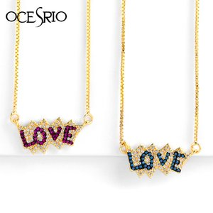 Trendy Love Heart Pendant Couple Necklace for Women Cubic Zirconia Gold Chain Long Necklace Valentines Day Jewelry Gift nke-p21