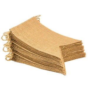 New Jute Banner, 20 Ft Swallowtail Flag, DIY Decoration for Holidays, Wedding, Camping, Party and Any Occasion 30 Pcs