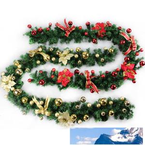 2 .7m (9 pés) Verde Artificial grinaldas Garland Lareira grinalda Para Xmas Ano Novo decoração da árvore de partido Home