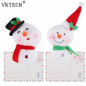 Xmas Fridge Magnet Messaggio Sticker magnete del frigorifero del pupazzo di neve di Natale decorazioni per la casa auto Accessori Cucina vQns #