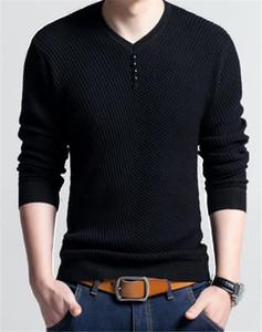 Uomini Designer Maglione Autunno Inverno a righe con scollo a V manica lunga Casual Uomo maglioni Pullove Homme Abbigliamento