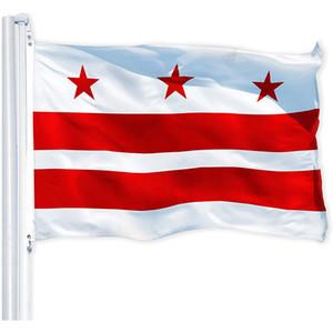 3x5 Washington DC City Flag 3x5ft, individuell gestaltete Hanging 100% Polyester-Gewebe, Dekorative Alle Länder, freies Verschiffen