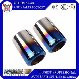 Car modification accessories stainless steel exhaust tip tailpipe muffler for CX-5 2017 2018 2019 dHMa#