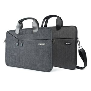 WiWU Multi-função Laptop Messenger Bag para MacBook Pro Laptop Waterproof 16 15 13 polegadas Bag 15,6 17,3 Carry Bag para MacBook Air T200720