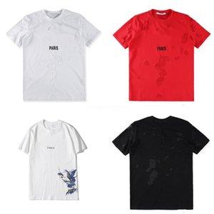 Hip Hop unisex tee nuevo alto desistir de Paisley del pañuelo de impresión de letras unisex camiseta gráfica de la cremallera lateral extendido mujeres y los hombres de la camiseta # QA505