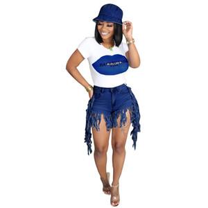 Летний женский дизайнер джинсы короткие штаны 2020 Новое прибытие европейского и американского стиля сексуальные женские шорты джинсы размер S-2XL