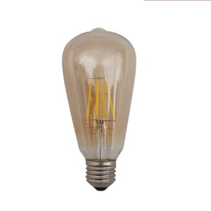 Vintage Style LED Tungsten Filament Lamp 4W 6W 8W Dimmable Tan Bulb Lighting Party Decoration Supplies Romantic Style 8 71bs ZZ
