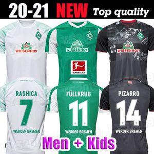 20 21 Werder Bremen hogar lejos tercera Camisa 2020 Camisa 2021 junior Sportverein fútbol jerseys PIZARRO Osako Harnik KRUSE RASHICA Fútbol