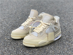 Con Casual Shoes Box 4 Off Cream vela bianca IV Uomini Donne mussola WMNS Space Jam Designer 4s lusso Size 36-47
