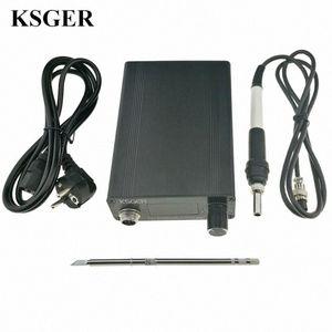 KSGER OLED T12 Havya İstasyonu Elektrik Demir DIY Kol Aracı STM32 OLED Sıcaklık Kontrol Tutucu Kaynak T12-K zgtH # Standı