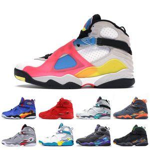 2020 Moda Yeni SE Beyaz Çok renkli Retro Kadınlar Erkek basketbol ayakkabıları 8'ler Jumpman 8 Doernbecher South Beach Sevgililer günü spor ayakkabıları eğitmenler
