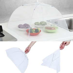 Pop-Up Mesh Screen Protect Food Cover Tent Dome Net Umbrella Picnic Food Protector Anti Fly Mosquito Kitchen Cooking Tools OOA8055