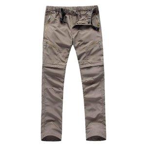 Pantalones al aire libre rápida Dos parejas de hombres y mujeres pareja puede ser desmontado Pantalones Entrenamiento