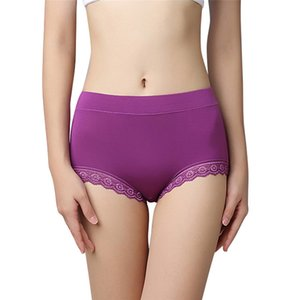 Woman Briefs Plus Size Seamless Shorts Panties Calcinhas Bragas Mid High Waist Female Lingerie Intimates Underwear