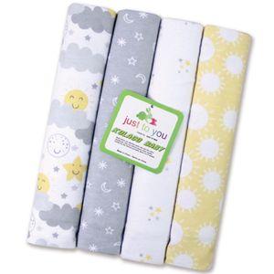 Infant baby 4PCS pieces cotton blanket super soft Baby Swaddle Newborn Bear Anima Kids Bedding Mat