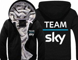 Sky Team Pro Ciclo gruesa lana para hombre Outwear yardas grandes de algodón con capucha chaqueta de la capa Parkas Warm j0iZ #