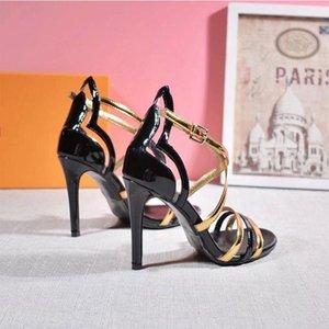 Cheap 2020 new fashion designer luxury series ladies sandals 10 cm high heel size 35--42 with box