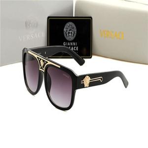 vv Brand High Quality Classic Pilot Sunglasses Designer Mens Womens Sun Glasses Eyewear Gold Metal Green Glass Lenses Brown Case