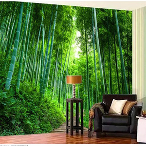 Large wallpaper for walls 3 d for living room 3D Bamboo Forest wallpapers Boardwalk Extension Background Wall