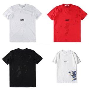Summer Fashion Designer T Shirt Men'S High Quality Letter Printed Women Tops Hipster Sweatshirt Streetwear Clothes Tees Discount Sal #QA907