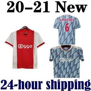 SIZE S-2XL 2020 AJAX منزل أحمر بعيدا NERES الأزرق الرجال لكرة القدم جيرسي 20 21 DE تجلى جانب ZIYECH تاديتش عدة الاطفال قمصان موحدة لكرة القدم 2021