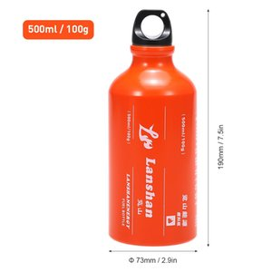 500ml Outdoor Picnic Bottle Hiking And Camping Camping & Hiking Alcohol Liquid Gas Tank Fuel Storage Bottle Multi Fuel Oil Stove For O MGQO#