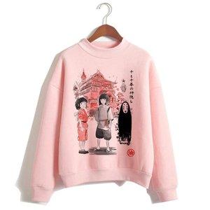 totoro Spirited Away harajuku Hoodies women cartoon clothing Sweatshirt new hood ulzzang funny hooded female Polyester Oversized