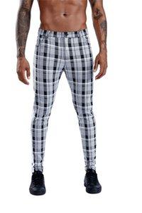 Ekose İş Erkek Pantolonları İnce Stretch Orta Bel Mens Tasarımcısı Pantolon Yaz Erkek Kalem Pantolon Pockets