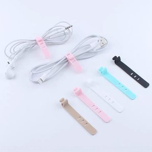 icpZK Creative and portable data silicone ribbon charging cable storage belt earphone Silicone Wire wire cable anti-winding finishing buckle