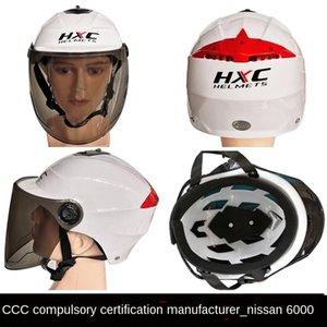 HXC Elektro-Fahrrad Sommer Goggles Fahrrad UV-beständig weiblicher Reithelm mit Schutzbrille Helm