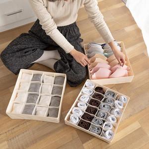Startseite Solid Color-Aufbewahrungsbehälter für Folding Socken Bra Unterhose-Unterwäsche Organizer-Fach Sundries Sorting Lagerung