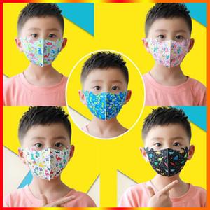 Enfants resuable Visage Masque bouche nez Masques de protection Designer Coton Lavable Mode Masques Dinosaur Anti-poussière pour enfants