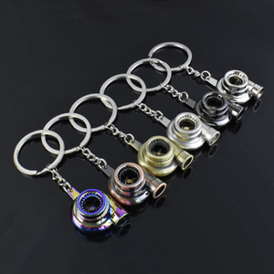 suti Originality Metal Turbo Keychain Sleeve Bearing Spinning Auto Part Model Turbine Turbocharger Key Chain Ring Keyfob Keyring ps0617