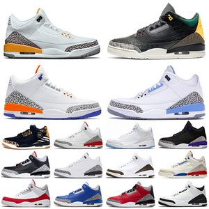 Nike Air Jordan Retro 3 3s off white basketball shoes Sapatilhas Originais JUMPMAN Animal Instinct Laser Laranja Mens Tênis De Basquete Knicks Rivals Cement Court Purple Trainers