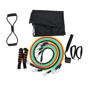 12Pcs   Set Fitness Resistance Bands Set Exercise Elastic Pull String for Aerobic Exercise Workout