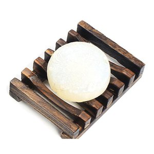 Natural Wooden Bamboo Soap Dish Tray Holder Storage Soap Rack Plate Box Container for Bath Shower Plate Bathroom DHB285