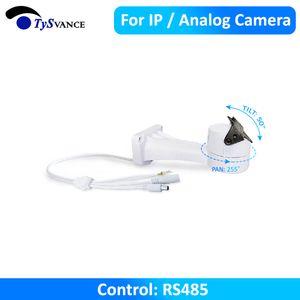 Built-in CCTV Soporte PTZ eléctricas rotativas Conexión RS485 Pan Tilt Motor de giro de la cámara analógica Para IP Accesorios de montaje