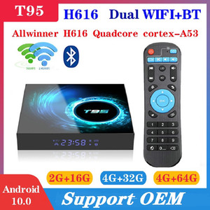 T95 Android 10.0 TV Box H616 4GB+32GB Dual Wifi 2.4G+5G Support BT 6K Caja de tv android PK X96 Air A95XF3