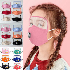 kids face masks with breathing valve and transparent eye shield kids face mask anti dust fog fashion mouth mask KHA339
