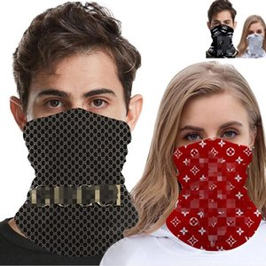 Outdoor designer scarf face mask Bandanas Letter Scarf Headband Neckerchief Multifunction Cap Sports Head Scarves Half Face Mask