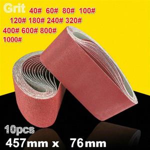 10Pcs 76 * 457mm abrasivo nastri abrasivi 40-1000 Band graniglia abrasiva per Sander Power Tools 1nIi #