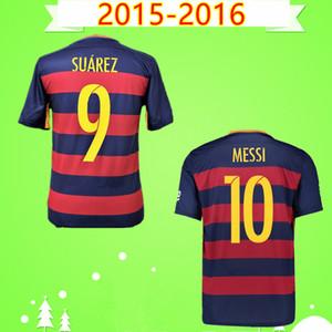 # 10 MESSI 2015 2016 Retro casa camiseta de fútbol Pedro Xavi época clásica camiseta de fútbol Camiseta de futbol 15 16 A.INIESTA Rakitic
