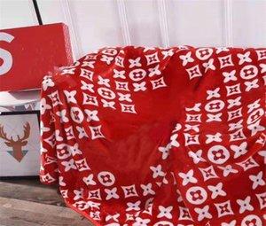 2020 Mejor venta Negro Rojo Blanco banda Manta de lana 150x200cm logotipo del estilo de moda para manta de viaje del Ministerio del Interior de la siesta del sueño franela de tela