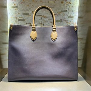 Candy bag 5A top quality ONTHEGO women shopping bags genuine leather shoulder handbag anvas tote Bag fashion lady purse with box B019